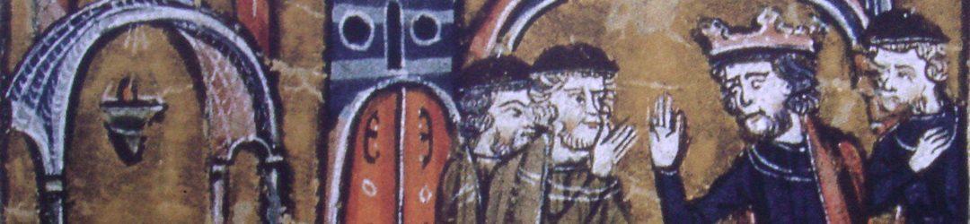 König Balduin II. von Jerusalem übergibt den Tempel Salomons an Hugo von Payens und Gottfried von Saint-Omer